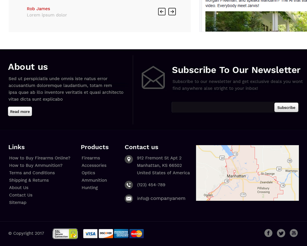 Custom Footer with more information Advanced Footer